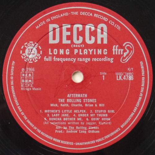 LP-The-Rolling-Stones-Aftermath-Decca-LK-4786-FFRR-UK-1966